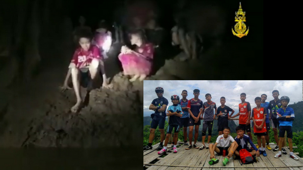 Thai kids and coach lost for 9 days, found alive inside a cave