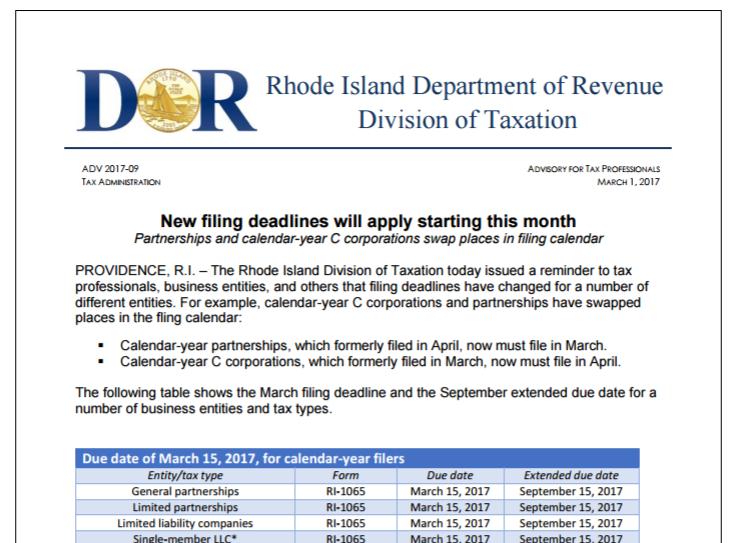 Rhode Island Tax Payments Online