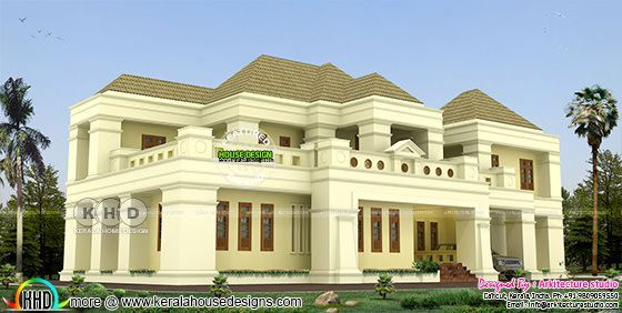 418 square meter 5 bedroom home colonial style