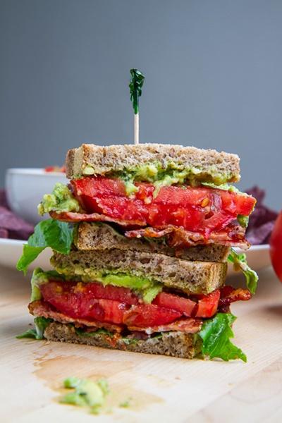 Pesto Guacamole Sandwich