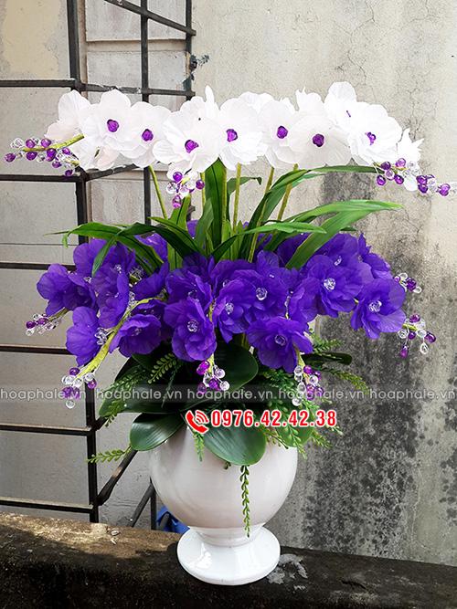 Hoa pha le, bán nguyên liệu làm hoa pha lê