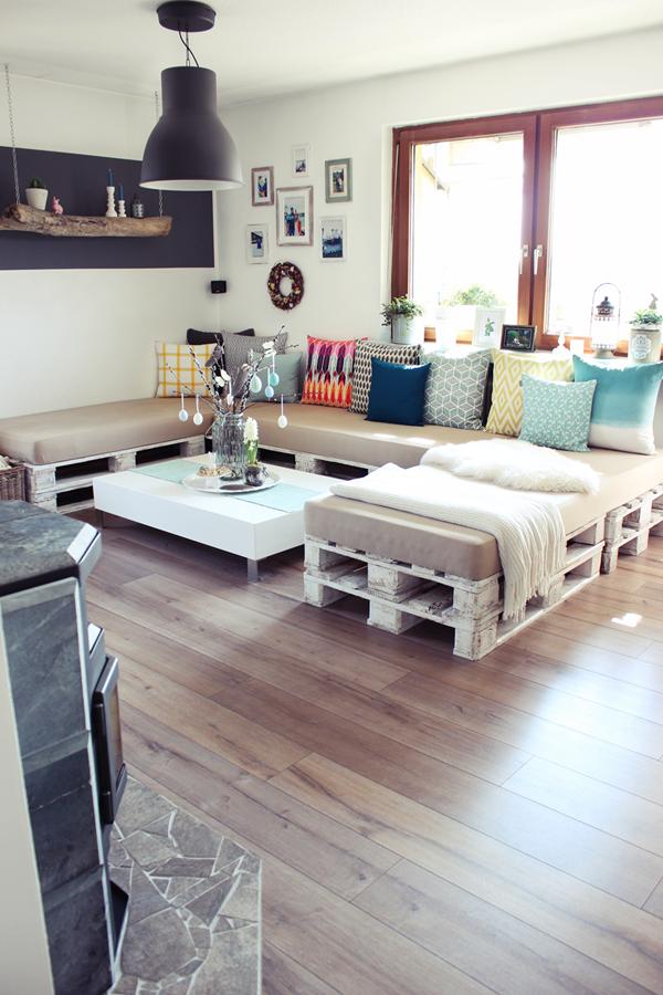 s'bastelkistle: ein paar bilder der wohnküche mit etwas osterdeko, Hause deko