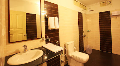 Bathroom at the cottages of The Wind Munnar - the best luxury hotel/resort in Munnar