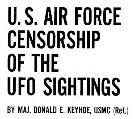 U.S. Air Force Censorship of The UFO Sightings - True Magazine Jan 1965