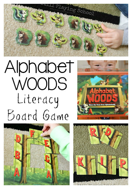 Alphabet Woods is a fantastic board game for teaching kids literacy and early reading skills!