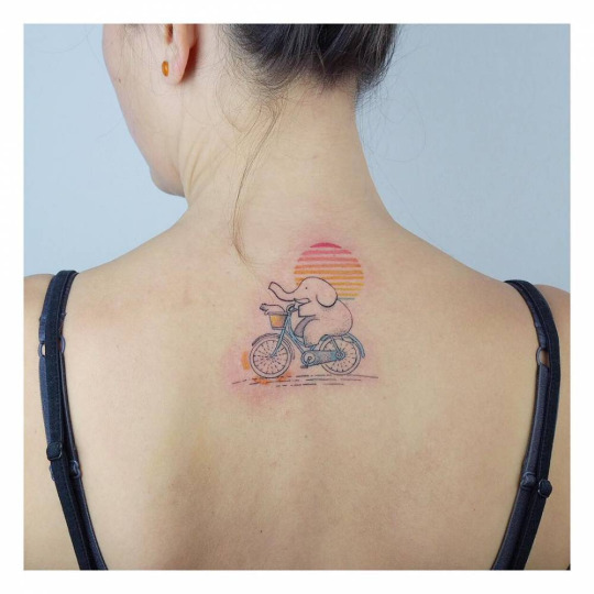 Super Cute Elephant Tattoo For Women