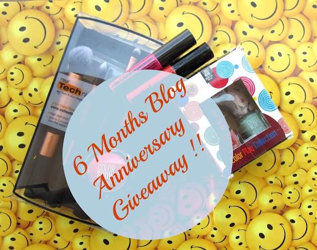 6 Month Blogversary Giveaway Details Announced .... !!