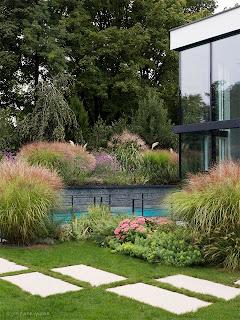 Garten modern mit einer reduzierten Form des Präriegartens