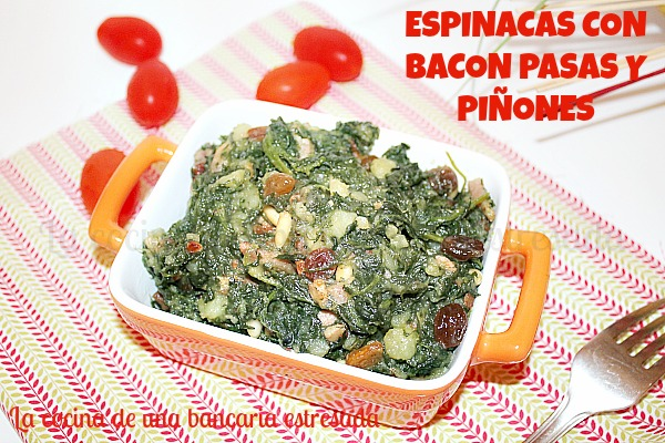 Espinacas a la catalana receta paso a paso y con fotografías