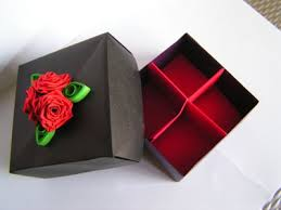 Quilling paper gift box designs for friends - quillingpaperdesigns