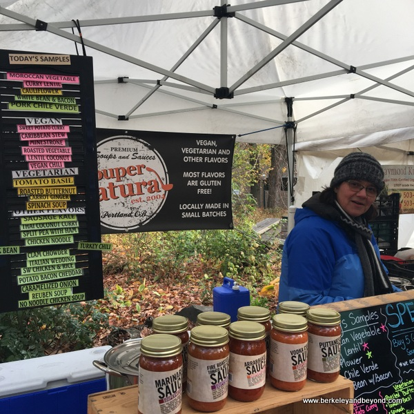 soups and sauces at Portland Farmers Market in Portland, Oregon