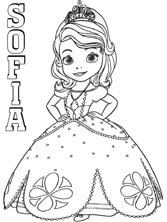 Tranh cho bé tô màu ông chúa Sofia 28