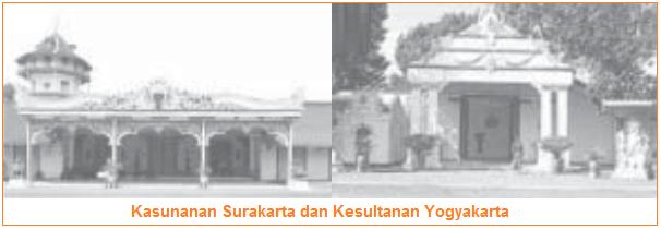 Peninggalan Kerajaan Mataram Islam adalah kasunanan surakarta dan kesultanan yogyakarta