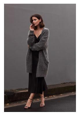 Платье-комбинация с длинным кардиганом