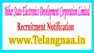 Bihar State Electronics Development Corporation LimitedBELTRON Recruitment Notification 2017