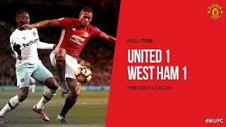 Diimbangi West Ham 1-1, Manchester United Dinilai Sedang Sial