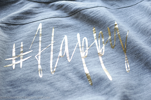Step by step photo tutorial for how to make an iron-on heat transfer graphic tee