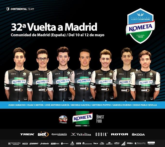 Dos etapas muy pestosas y un circuito urbano aguardan al Kometa en su debut en la Vuelta a Madrid