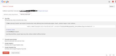 Cara Mendaftarkan Blog ke Google Webmaster Tool
