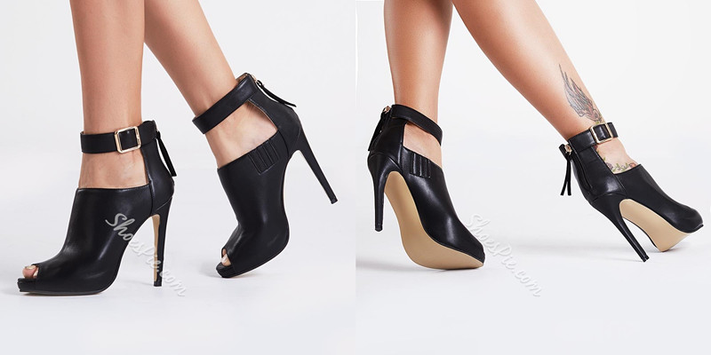 cb6d8c8d6055 This is black high heel sexy ankle boots shared by Shoespie Reviews. What  do you think of these boots  Do you like it  It is the best-selling items  at ...