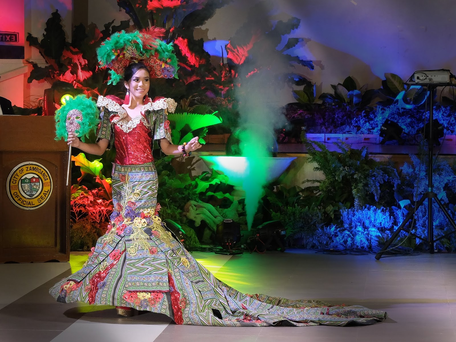 Masskara Festival of Bacolod City by Vicky Go Tonggal Festival de las Bellas y Flores Gown Competition National Costume