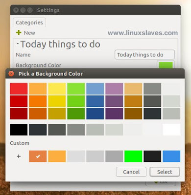 Change sticky notes indicator background