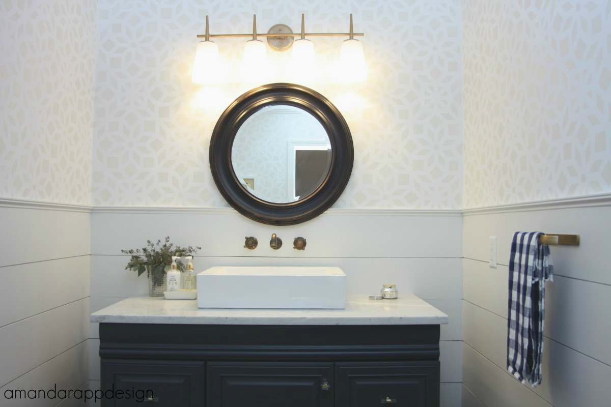 Amanda Rapp Design: Updated Powder Room