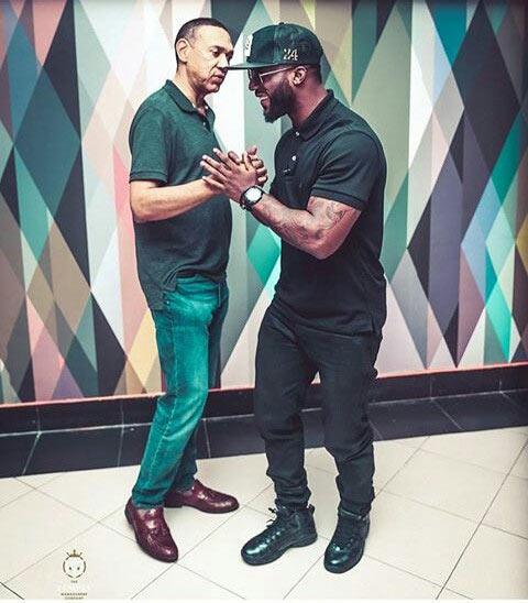 Caption this photo of singer Iyanya and Senator Ben Murray-Bruce