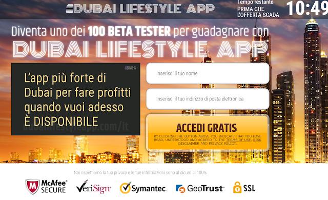Guadagnare soldi con Dubai lifestyle app è possibile o è una truffa?