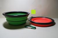 zweite Stufe: ZWOOS Haustier Futternapf - Faltbar Reisenäpfe Schüssel Reisenapf Tragbare Hundenapf Katzennapf Fütterung Wassernapf Silikon Trinknapf Pet Bowl, 2 Stück