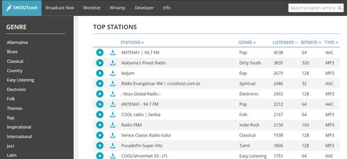 Shoutcast radio per ascoltare gratis la radio online