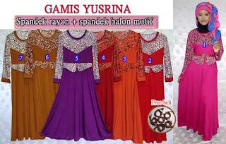 Model baju gamis yusrina gaul dan modis set belt