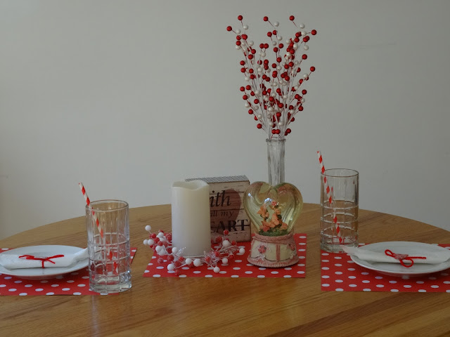 red and white theme for Valentine's Day