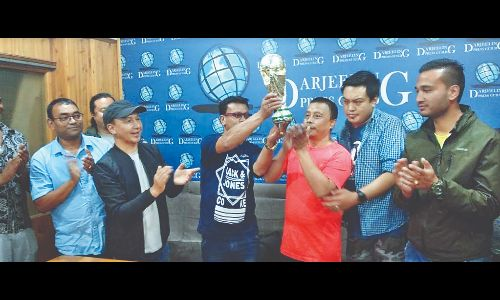 World Cup handed over to Bara Kakjhora United Club in Darjeeling