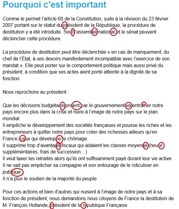 Destitution François Hollande