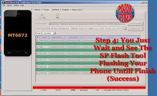 SP Flash Tool Langsung Membaca Ponsel HP Lenovo A319 dan Lakukan Flashing Secara Otomatis
