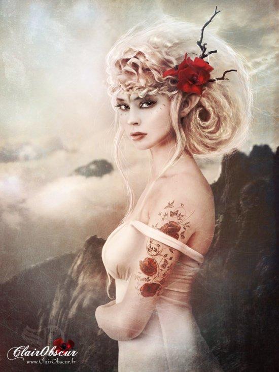 Stéphanie Pitino ClairObscur deviantart fotografia foto-manipulações mulheres fantasia dark sombria photoshop