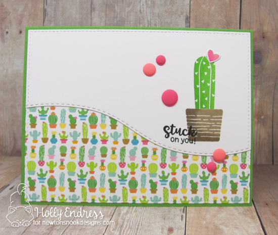 Cactus card by Hollly Endress | Cultivated Cacti stamp sets and die set by Newton's Nook Designs #newotnsnook