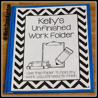 Classroom Organizing Tip for Unfinished Work