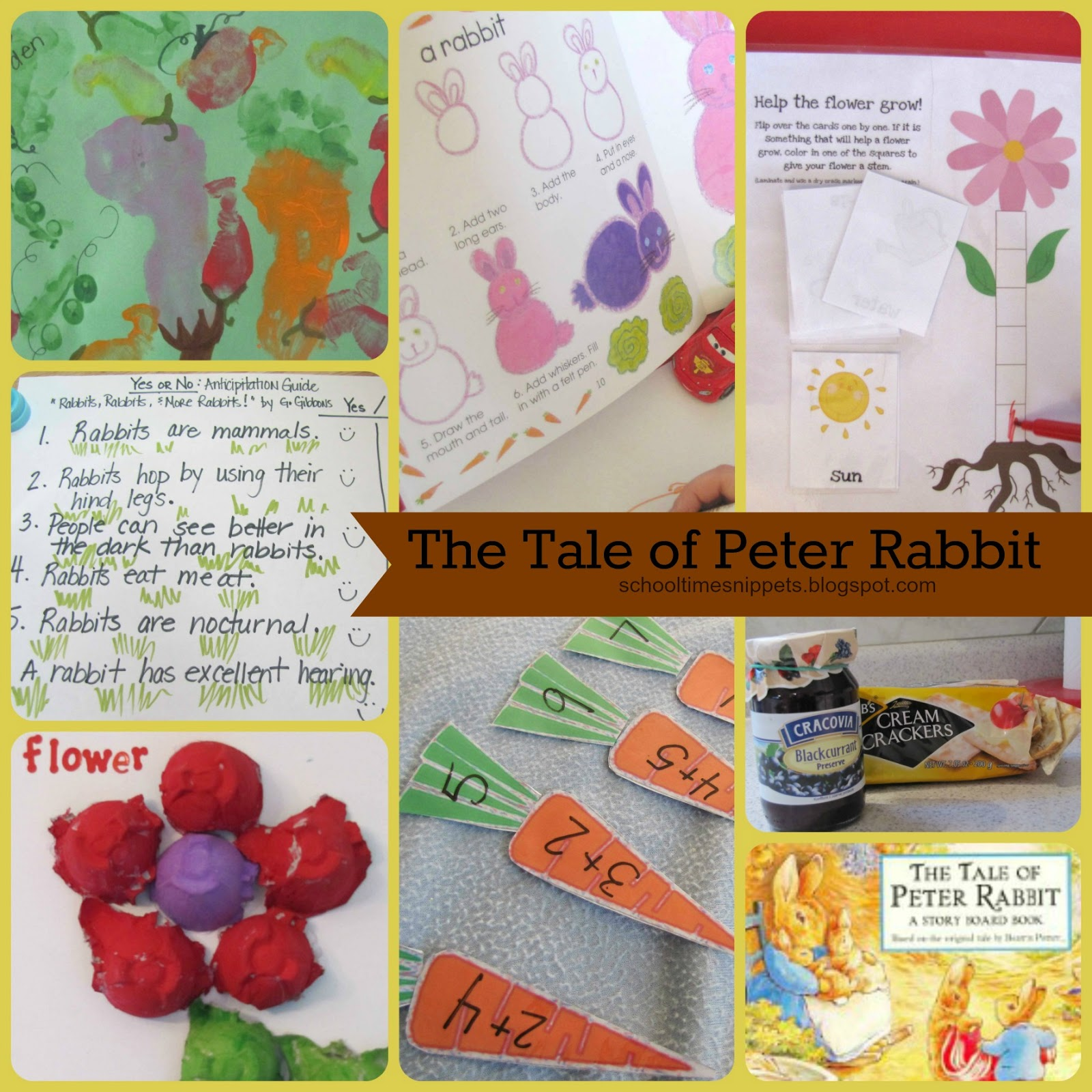 Five In A Row Activities The Tale Of Peter Rabbit