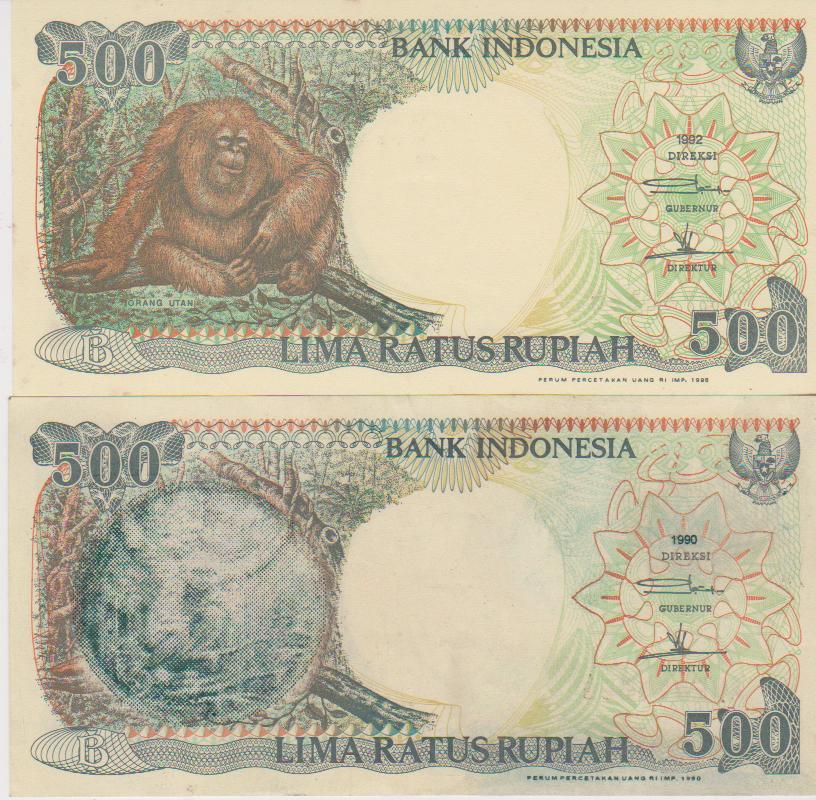 Uangkuno-magelang: 2. Uang 500 Rupiah Gambar Monyet Bukan