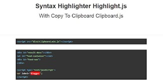 Syntax Highlighter Highlight.js With Copy To Clipboard Clipboard.js