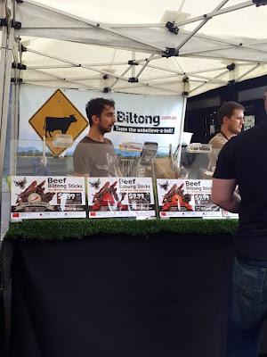 Biltong stall at Friday Foodie Market at Circular Quay Sydney
