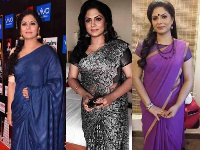 Asha Sarath Hot And Sexy Photos In Saree