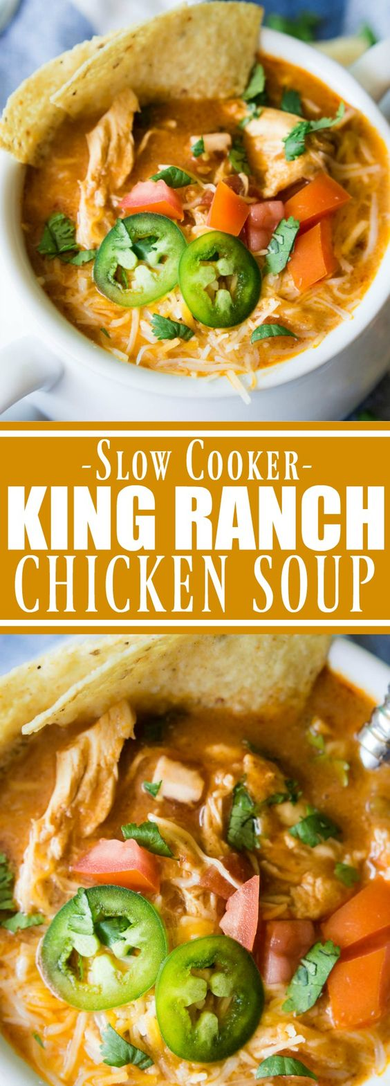 (SLOW COOKER) KING RANCH CHICKEN SOUP #SOUP #SLOWCOOKER