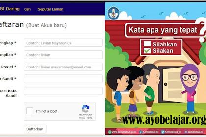 Cara Mendaftarkan Akun Dalam KBBI Daring - Kamus Bahasa Indonesia