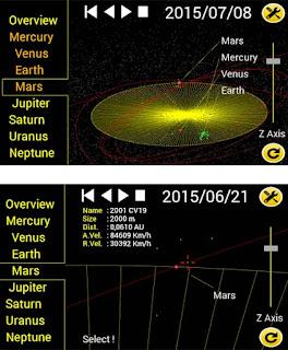aplicativo de astronomia - asteroid alert
