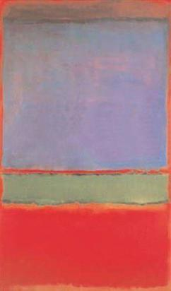 World's ten most expensive paintings/No. 6 (Violet, Green and Red), Mark Rothko