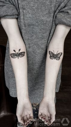 Awesome Butterfly Tattoo For Girls