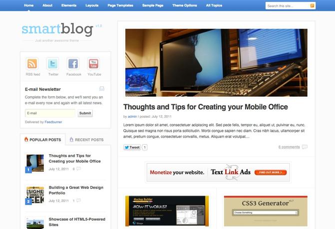 WordPress personal blog Portfolio theme